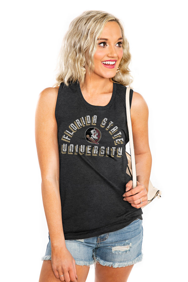 "FLORIDA STATE SEMINOLES ""MAKE A STATEMENT"" JERSEY MUSCLE TANK - Shop The Soho"