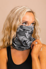 The Adult Gaiter in Grey Camo - Gameday Couture