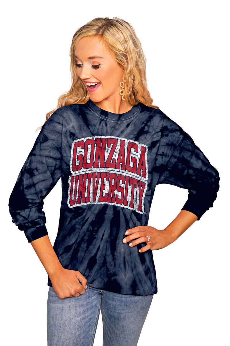 "Gonzaga Bulldogs ""It'S Good"" Spin Dye Long Sleeve Crew - Gameday Couture"