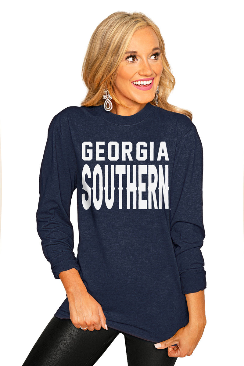 "Georgia Southern ""Go For It"" Luxe Boyfriend Crew Tee - Gameday Couture"