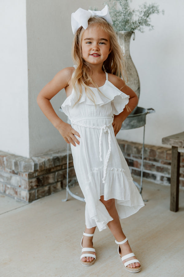 """HEART SIGNAL"" TODDLER HIGH LOW DRESS"