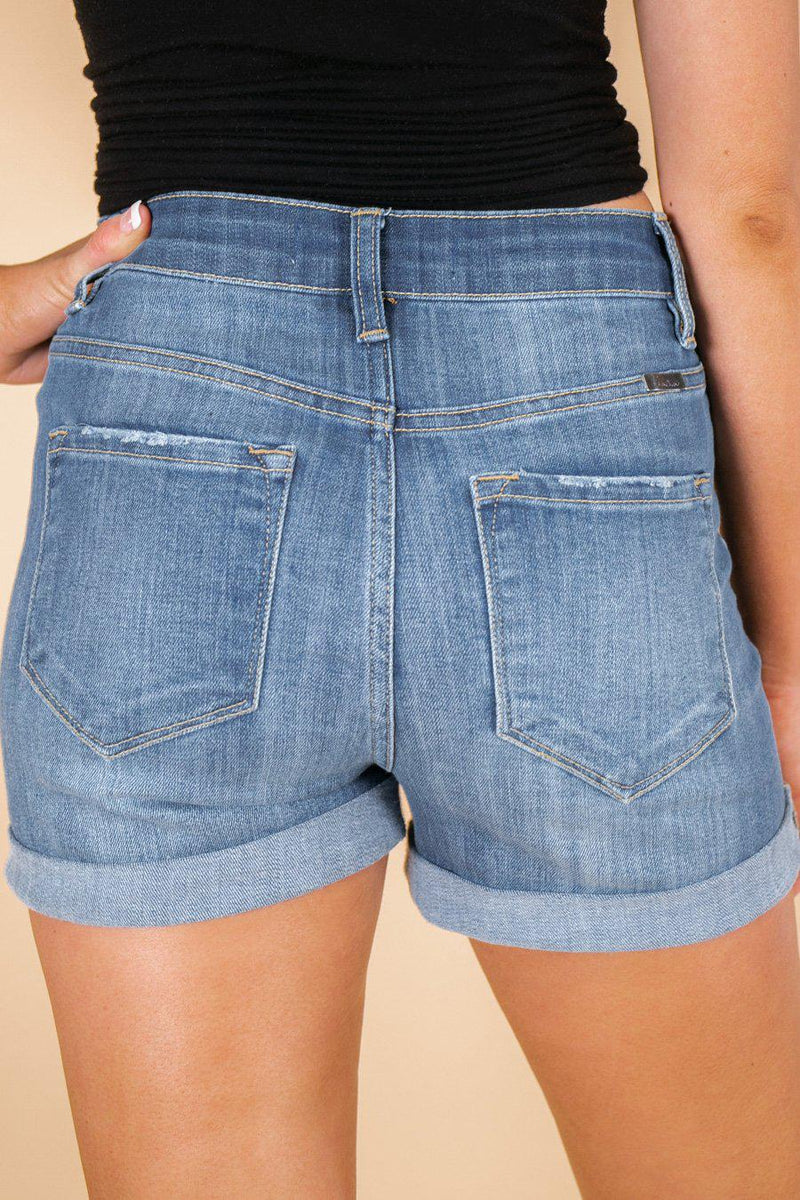 "The ""High and Mighty"" Denim Shorts - Gameday Couture"