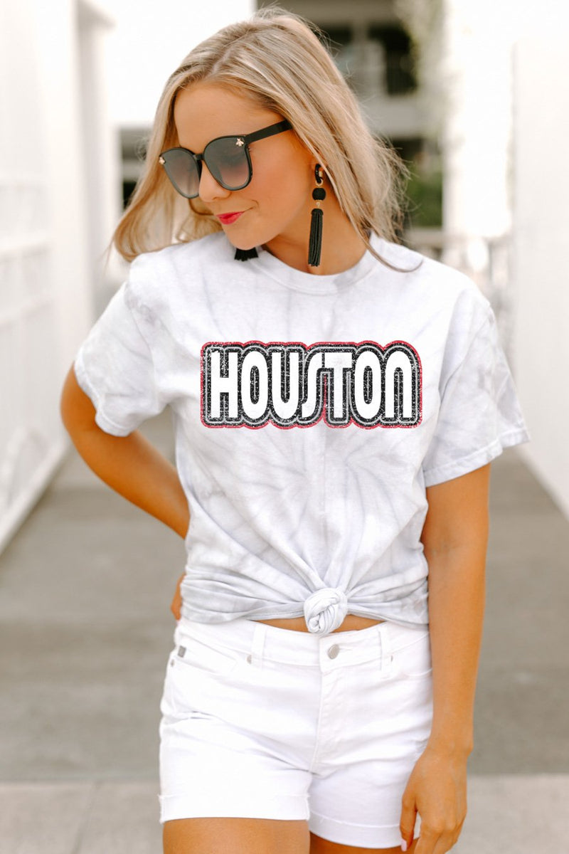"Houston Cougars ""It's a Win"" Watercolor Spin Dye Top - Gameday Couture"