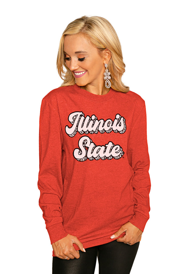 "Illinois State Redbirds""Game Plan"" Luxe Boyfriend Crew Tee - Shop The Soho"