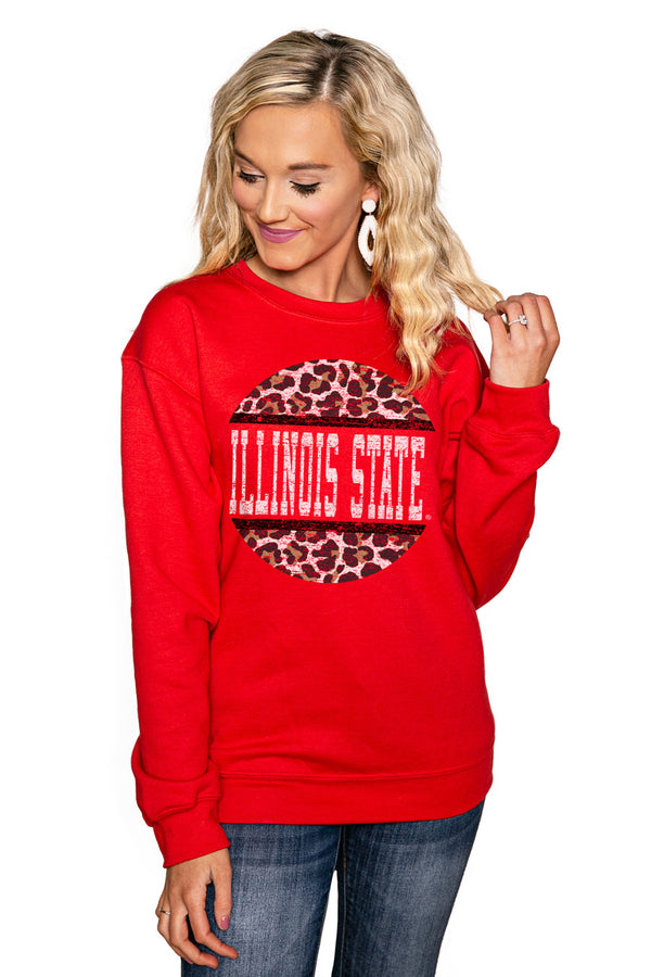 "ILLINOIS STATE REDBIRDS ""SCOOP & SCORE"" Perfect Crew Sweatshirt - Gameday Couture"