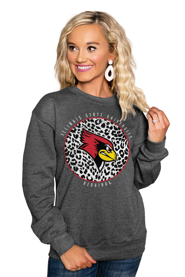 "ILLINOIS STATE REDBIRDS ""CALL THE SHOTS"" Perfect Crew Sweatshirt - Gameday Couture"