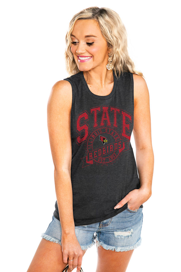 "ILLINOIS STATE REDBIRDS ""NEVER BETTER"" JERSEY MUSCLE TANK - Shop The Soho"