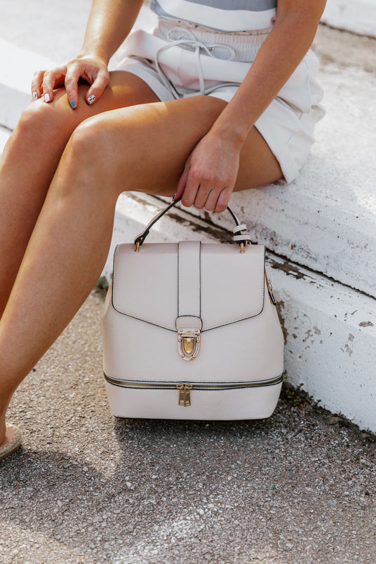 THE SANNI BUCKLE ZIPPER BACKPACK