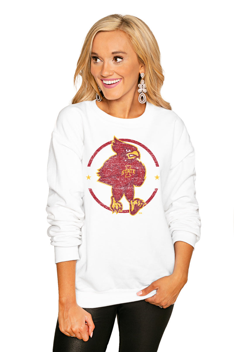 "IOWA STATE CYCLONES ""END ZONE"" PERFECT COZY CREW SWEATSHIRT - Gameday Couture"