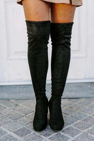 "The ""Just My Stride"" Knee High Boots in Black - FINAL SALE"