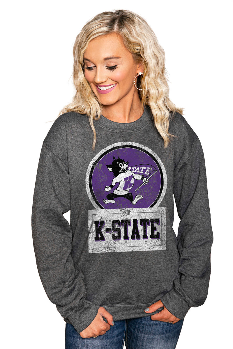 "KANSAS STATE WILDCATS ""GOOD VIBES"" Perfect Crew Sweatshirt - Gameday Couture"