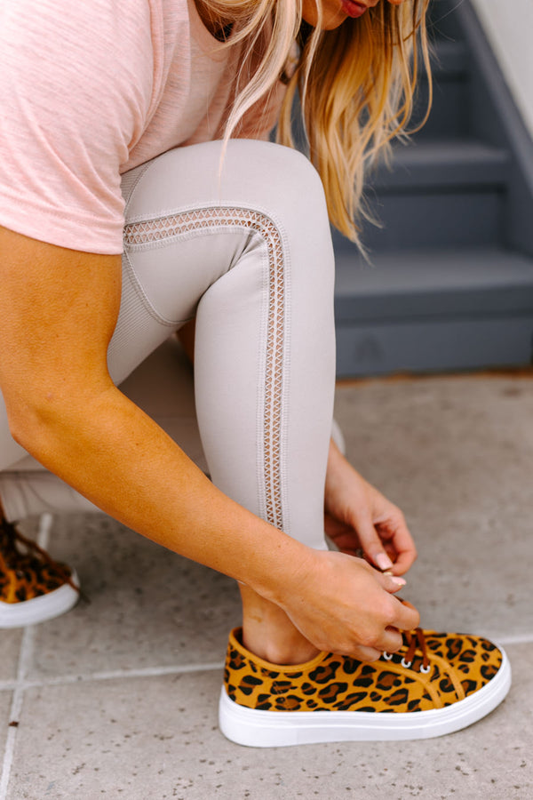 "The ""Lazy Days"" Tennis Shoes in Leopard"