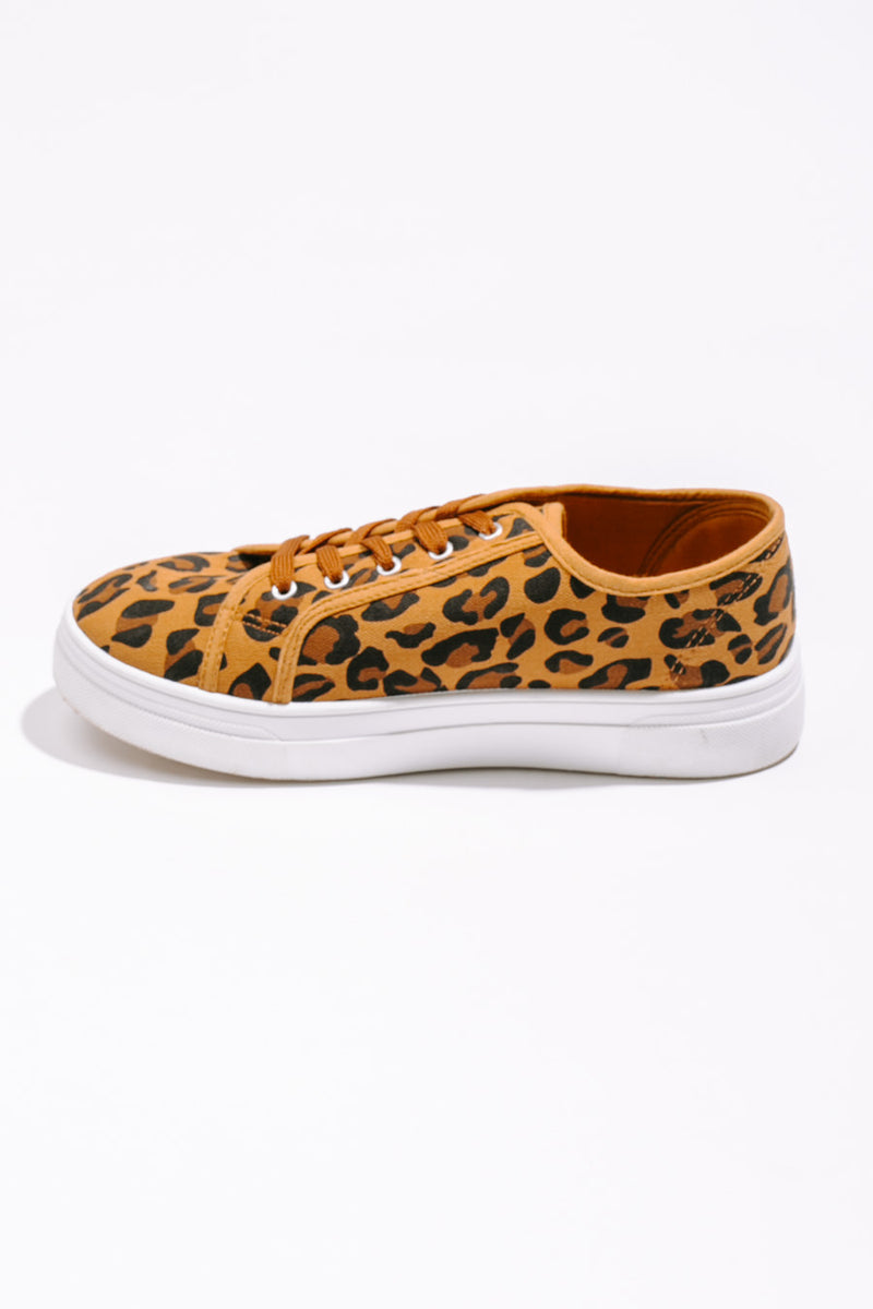 "The ""Lazy Days"" Tennis Shoes in Leopard - Gameday Couture"