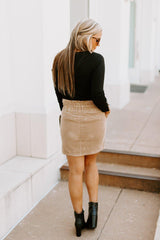 "The ""Lead The Way"" Corduory Skirt - Shop The Soho"
