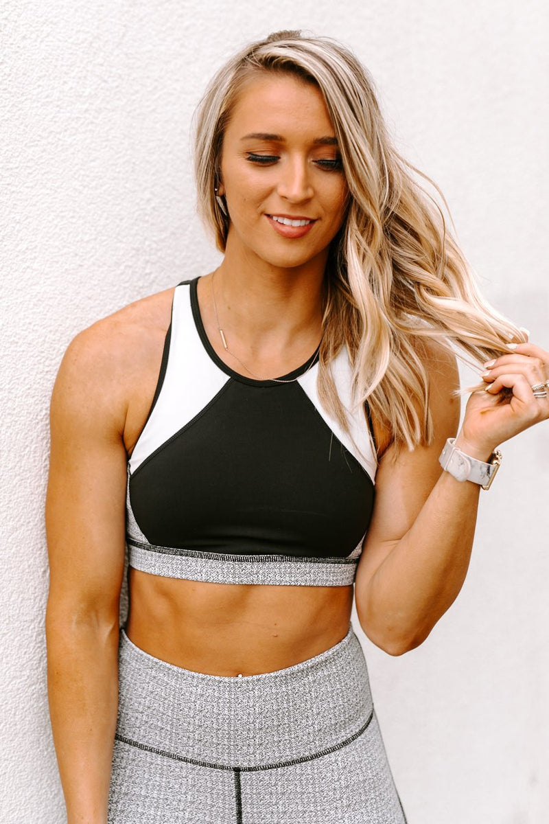"The ""Leading Me"" Sports Bra In Grey - Gameday Couture"