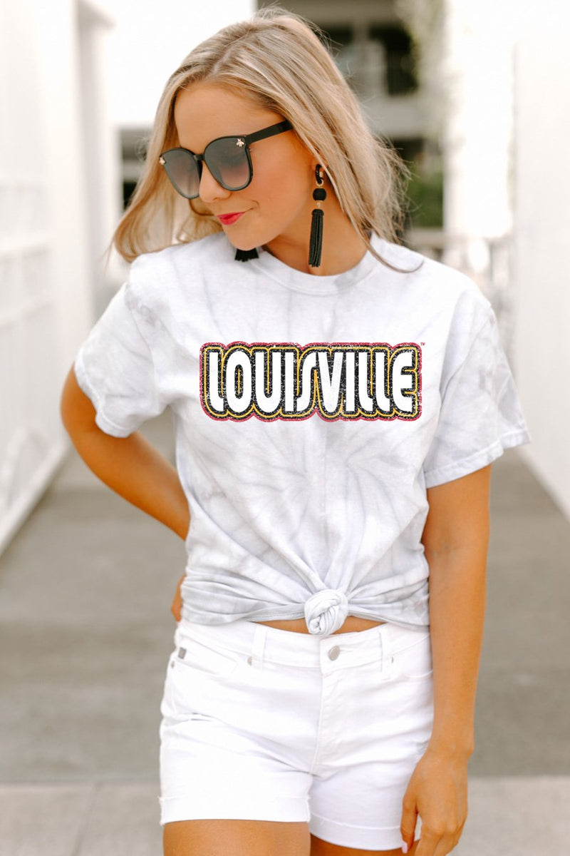 "Louisville Cardinals ""It's a Win"" Watercolor Spin Dye Top - Gameday Couture"