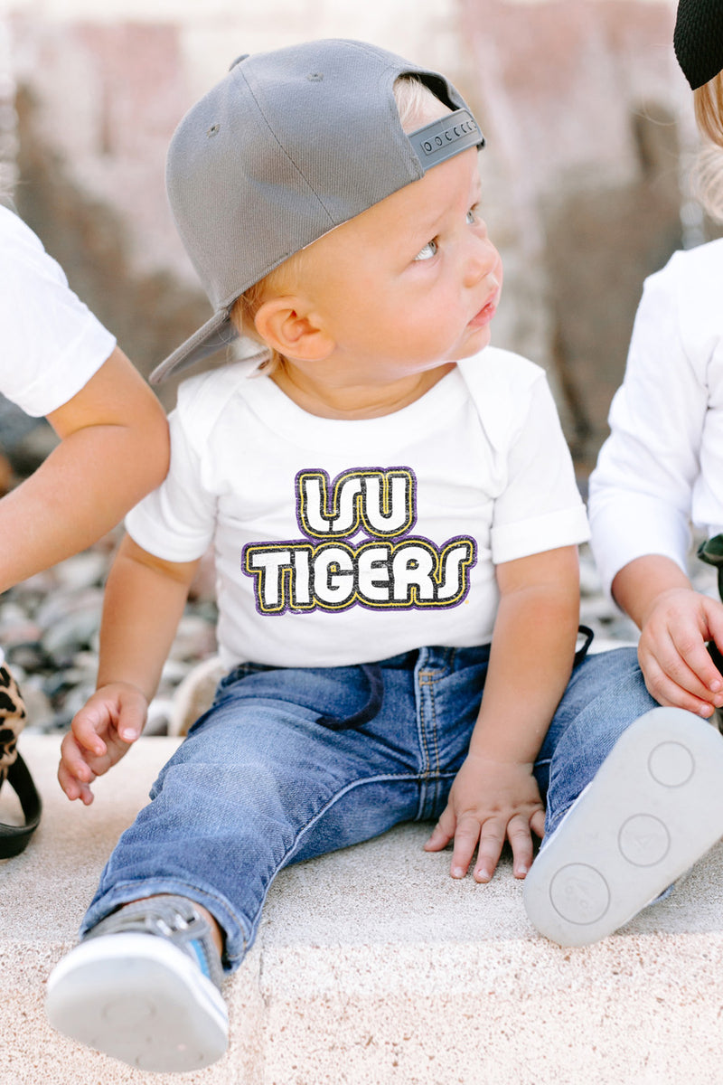"LSU Tigers ""It's a Win"" Snap to It Onesie - Gameday Couture"