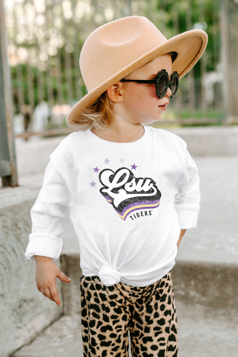 "LSU Tigers ""Vivacious Varsity Star"" Toddler Long-Sleeved Tee - Gameday Couture"