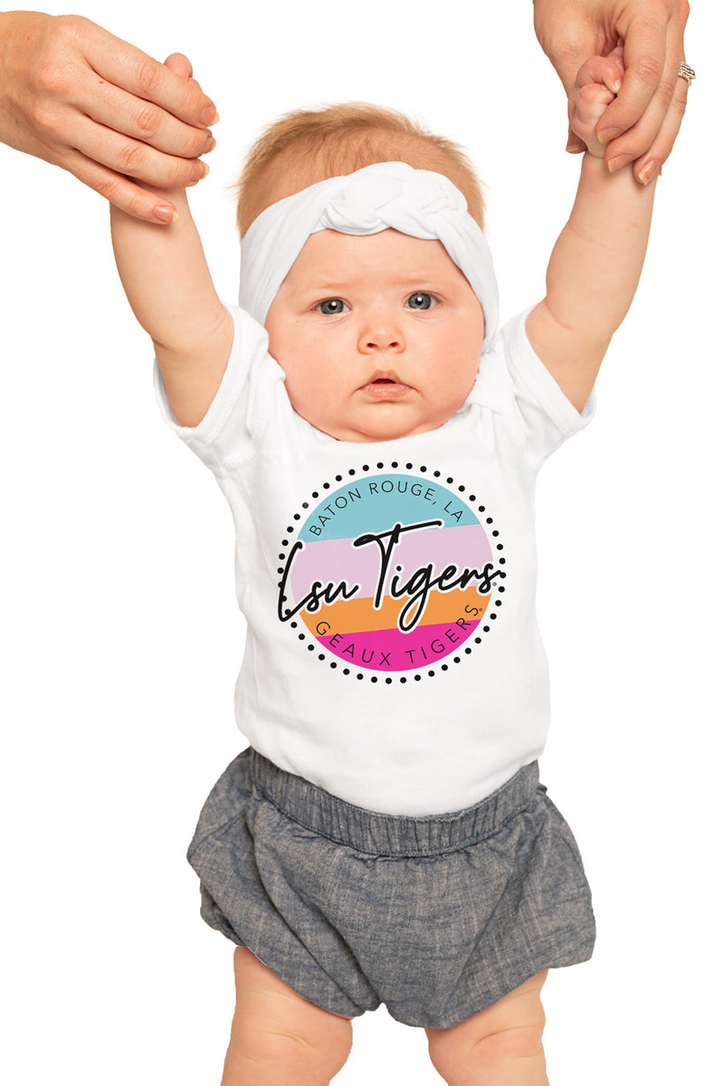 "LSU Tigers ""Let's Get Loud"" Onesie - Gameday Couture"