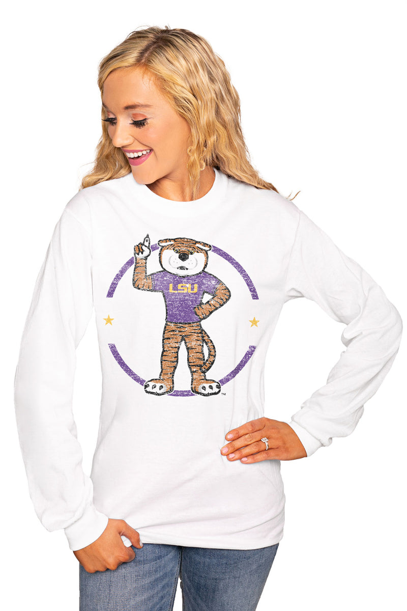 "Lsu Tigers ""End Zone"" Luxe Boyfriend Crew Tee - Shop The Soho"