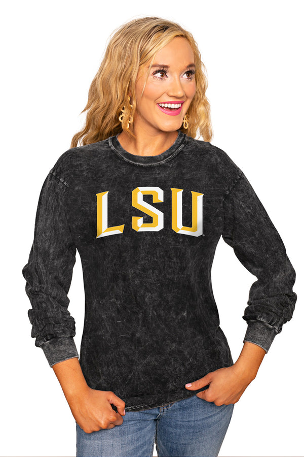 "Lsu Tigers ""Good Going"" Retro Mineral Wash Crew - Gameday Couture"