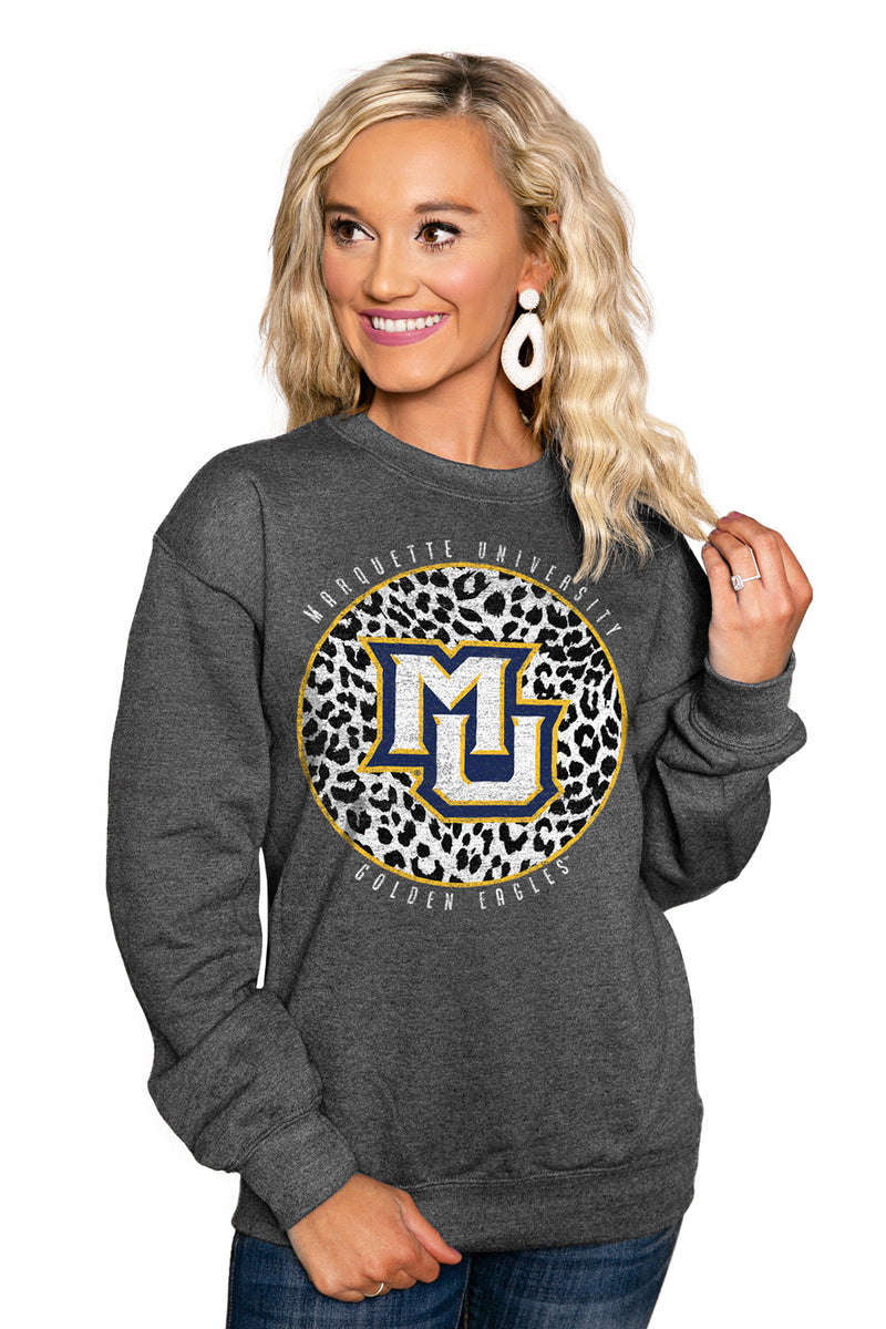 "MARQUETTE GOLDEN EAGLES ""CALL THE SHOTS"" Perfect Crew Sweatshirt - Gameday Couture"