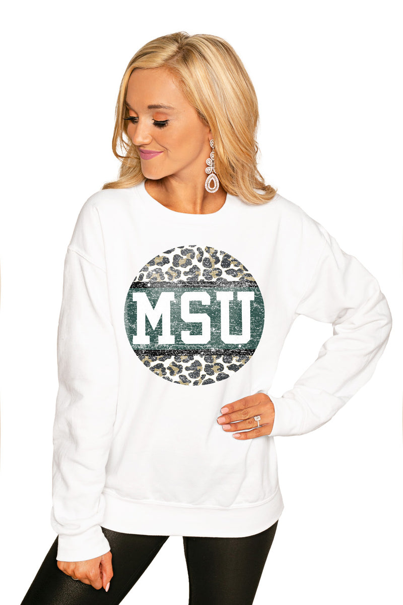 "Michigan State Spartans ""Scoop & Score"" Perfect Cozy Crew Sweatshirt - Gameday Couture"