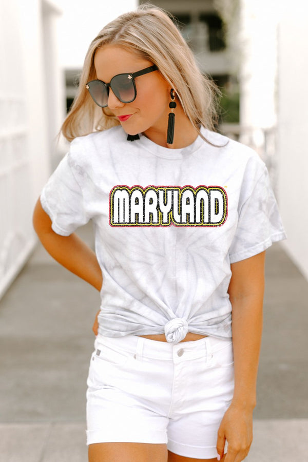 "Maryland Terrapins ""It'S A Win"" Watercolor Spin Dye Top - Shop The Soho"
