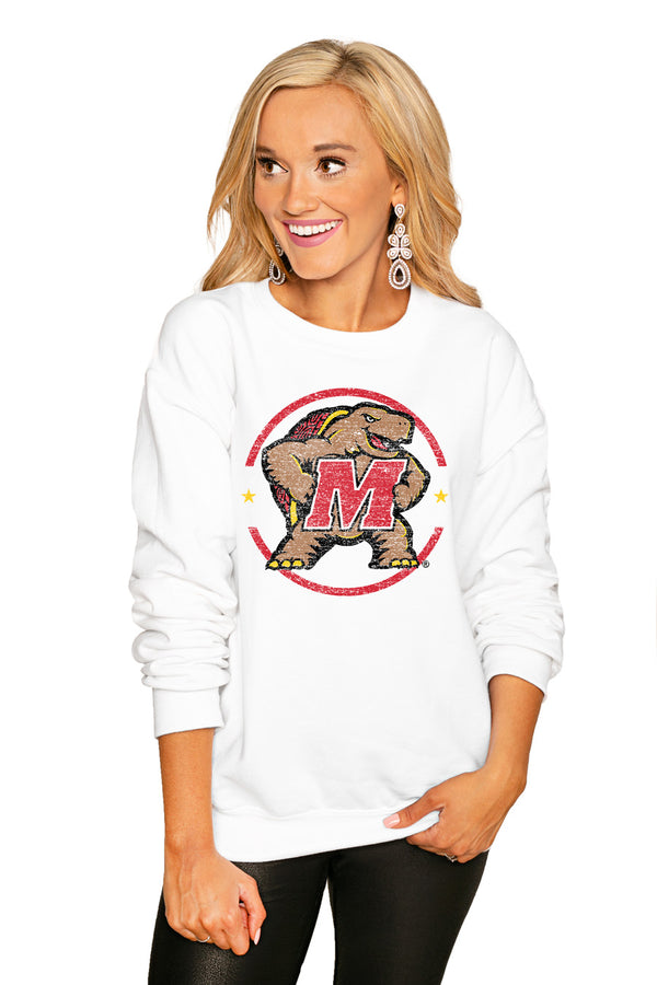 "Maryland Terrapins ""End Zone"" Perfect Cozy Crew Sweatshirt - Gameday Couture"