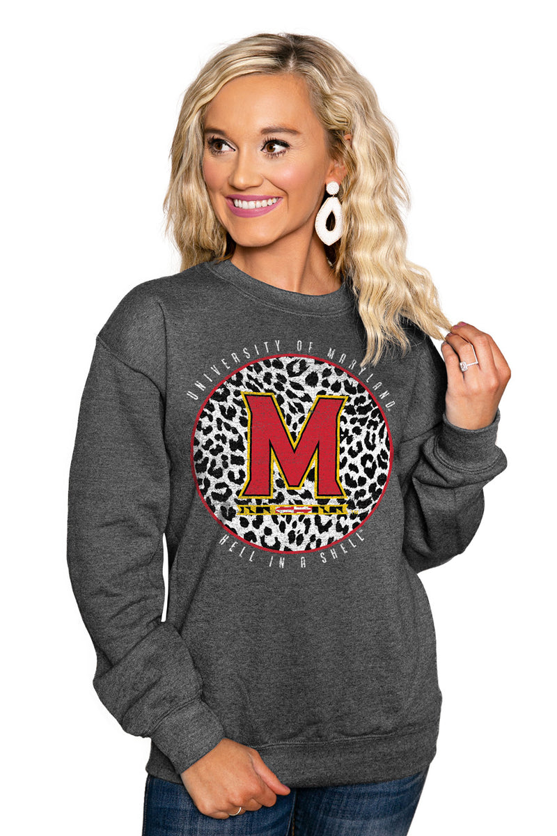 "MARYLAND TERRAPINS ""CALL THE SHOTS"" Perfect Crew Sweatshirt - Gameday Couture"