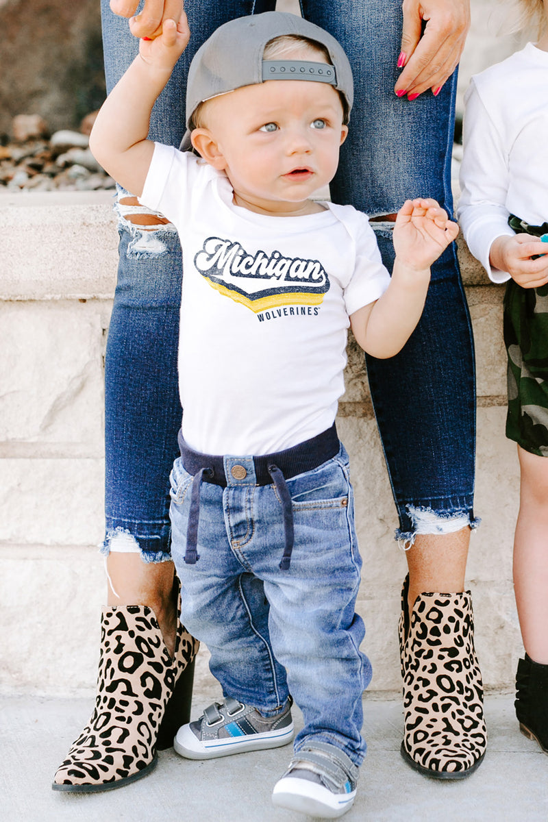 "Michigan Wolverines ""Vivacious Varsity"" Onesie - Gameday Couture"