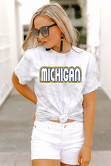 "Michigan Wolverines ""It's a Win"" Watercolor Spin Dye Top - Gameday Couture"