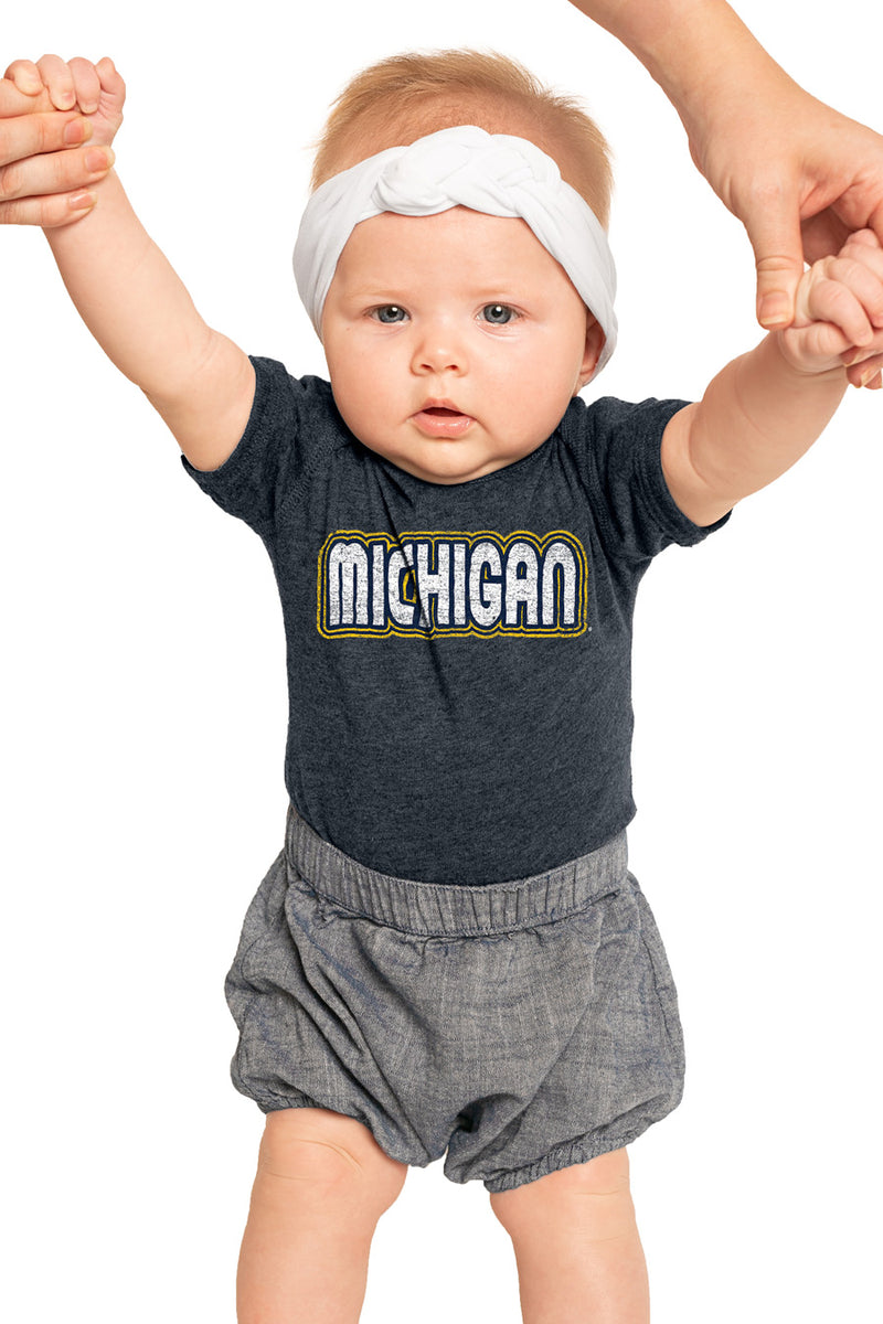 "Michigan Wolverines ""It's a Win"" Snap to It Onesie - Gameday Couture"