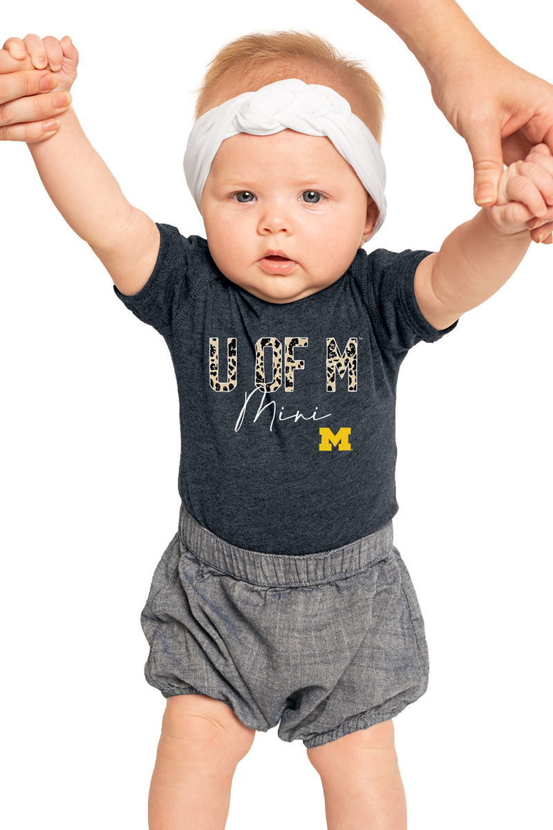 "Michigan Wolverines ""Untamed Mini"" Onesie - Gameday Couture"