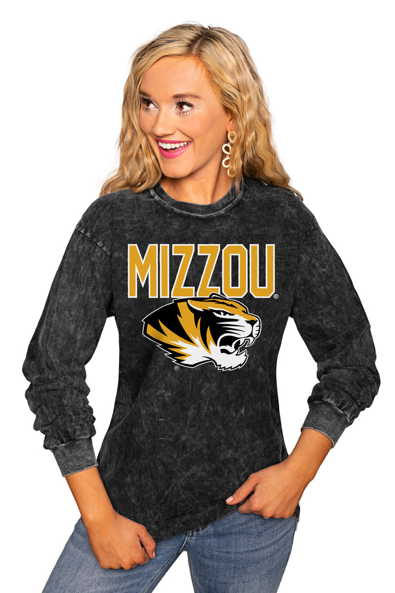 "Missouri Tigers ""Fourth Down"" Retro Mineral Wash Crew - Gameday Couture"