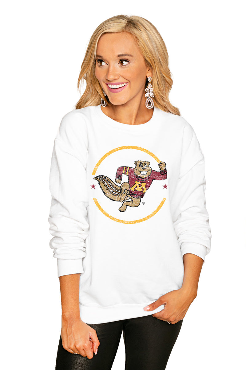 "Minnesota Gophers ""End Zone"" Perfect Cozy Crew Sweatshirt - Gameday Couture"