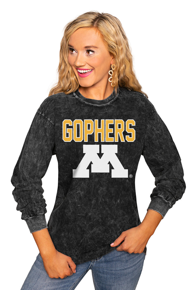 "MINNESOTA GOPHERS ""FOURTH DOWN"" RETRO MINERAL WASH CREW - Gameday Couture"