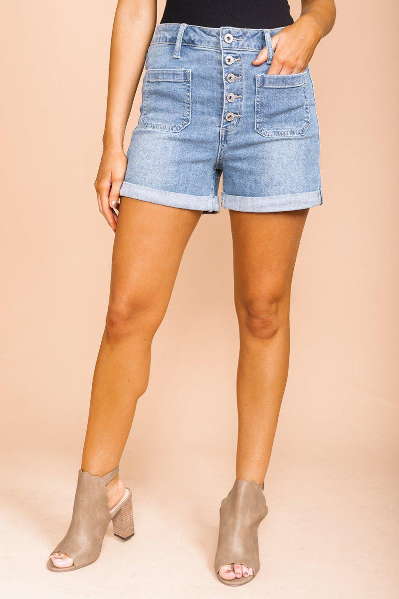 "The ""Molly"" Denim Shorts - Gameday Couture"