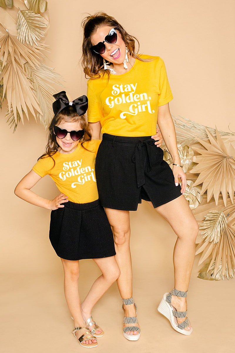 "The ""Stay Golden"" Tee For Mom - Gameday Couture"