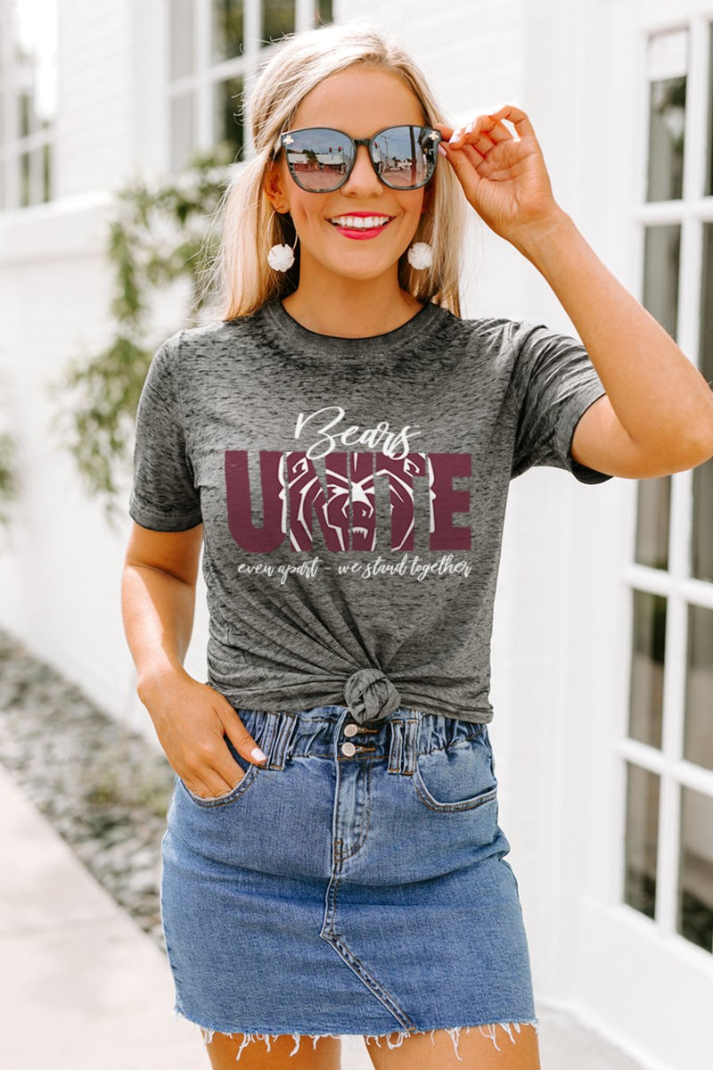 "Missouri State Bears ""Rising Together"" Boyfriend Top - Gameday Couture"
