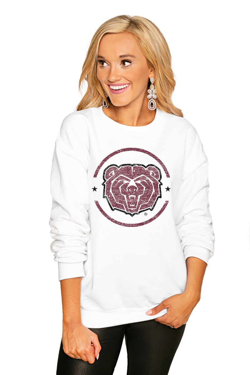"Missouri State - West Plains ""End Zone"" Perfect Cozy Crew Sweatshirt - Gameday Couture"