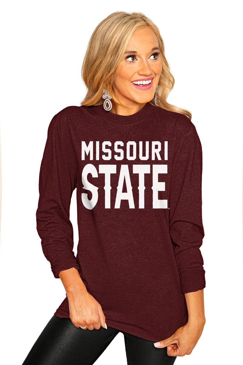 "MISSOURI STATE  ""GO FOR IT"" Luxe Boyfriend Crew Tee - Gameday Couture"