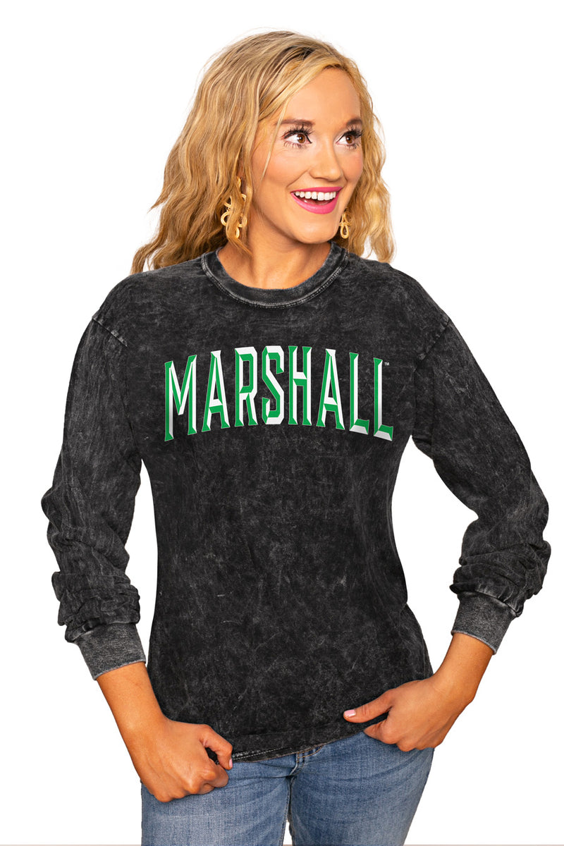 "Marshall Thundering Herd ""Good Going"" Retro Mineral Wash Crew - Gameday Couture"