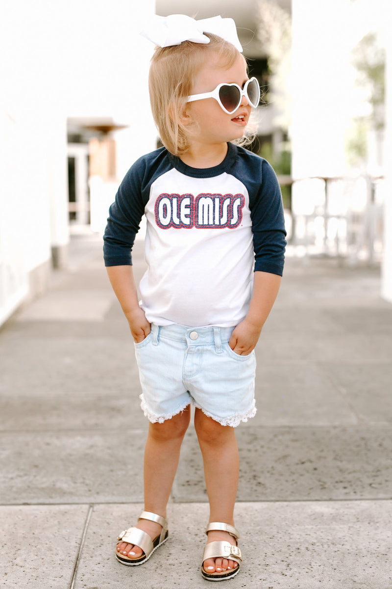 "Mississippi Ole Miss ""It's a Win"" Toddler Raglan Tee - Gameday Couture"