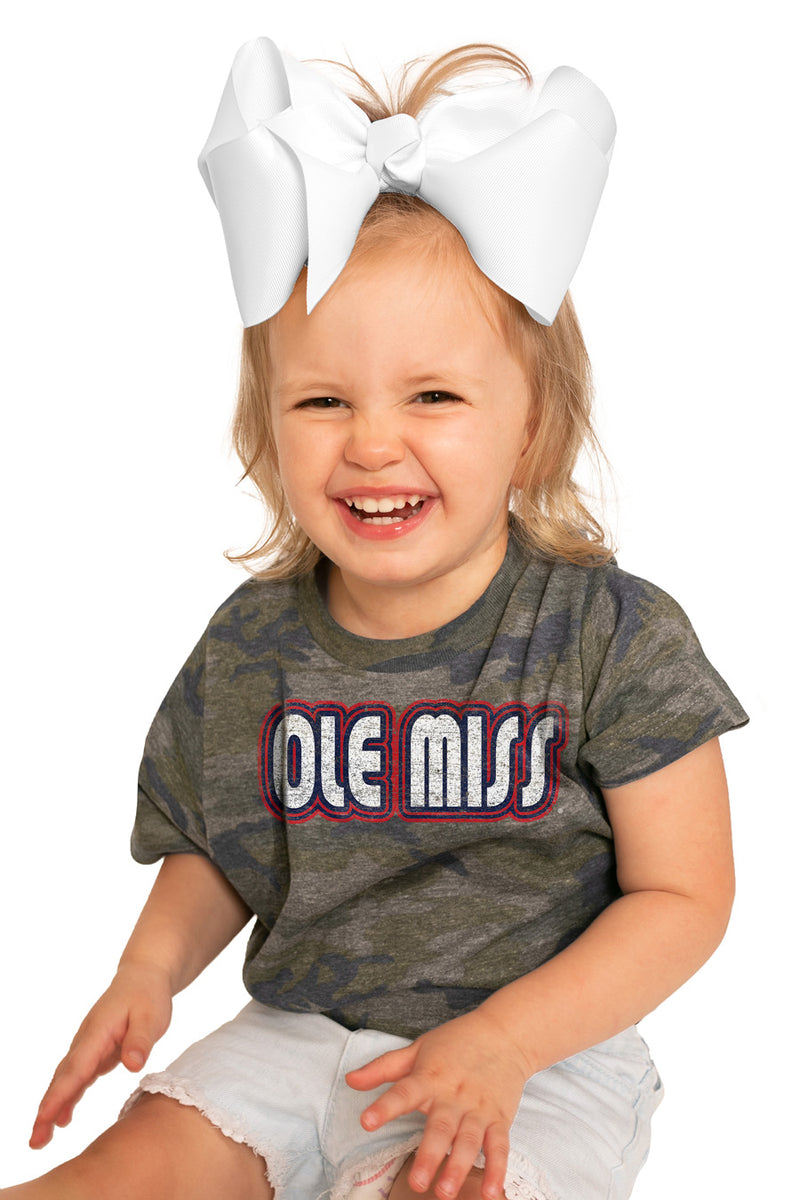 "Mississippi Ole Miss ""It's a Win"" Camo Toddler Tee - Gameday Couture"
