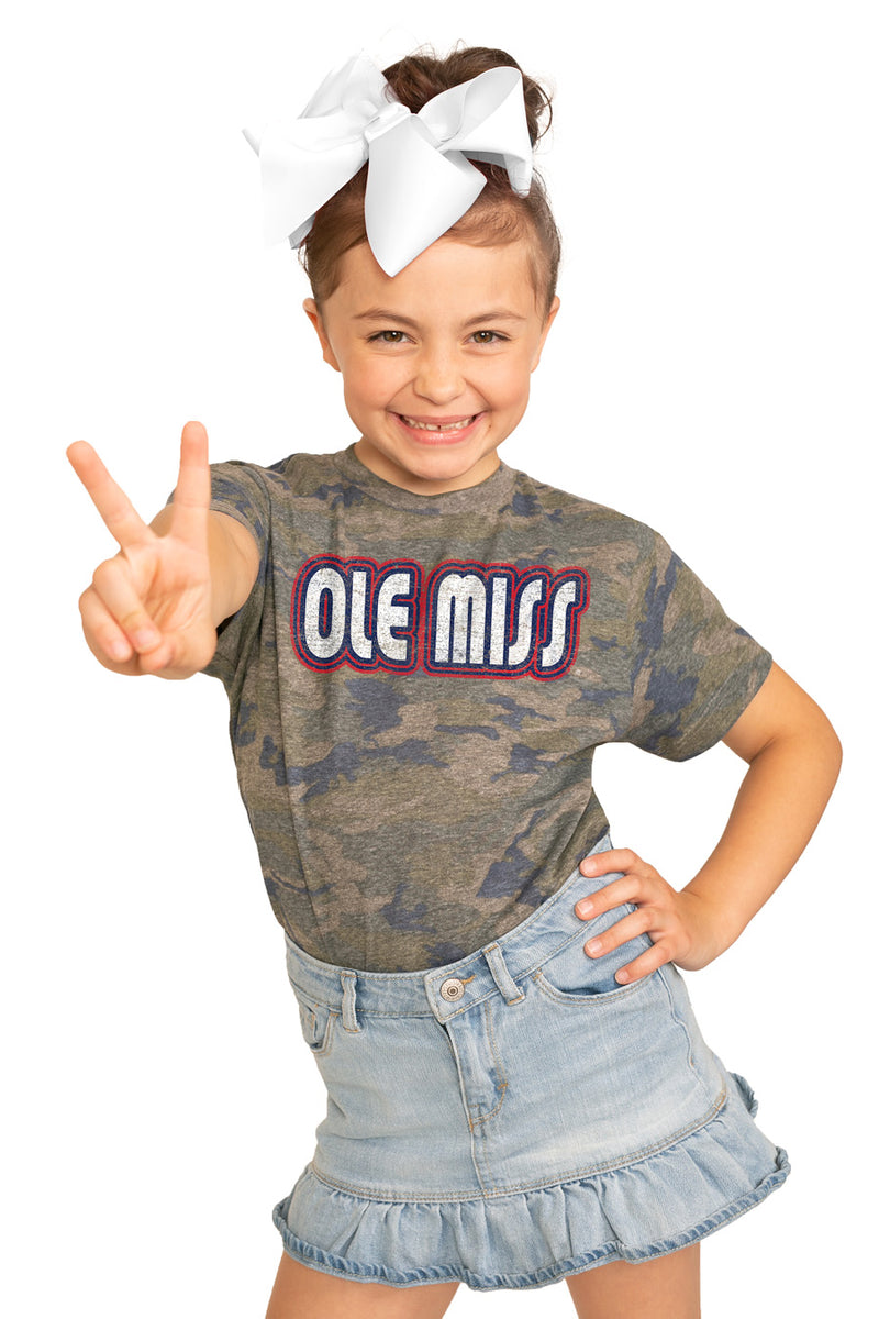 "Mississippi Ole Miss ""It's a Win"" Camo Youth Tee - Gameday Couture"