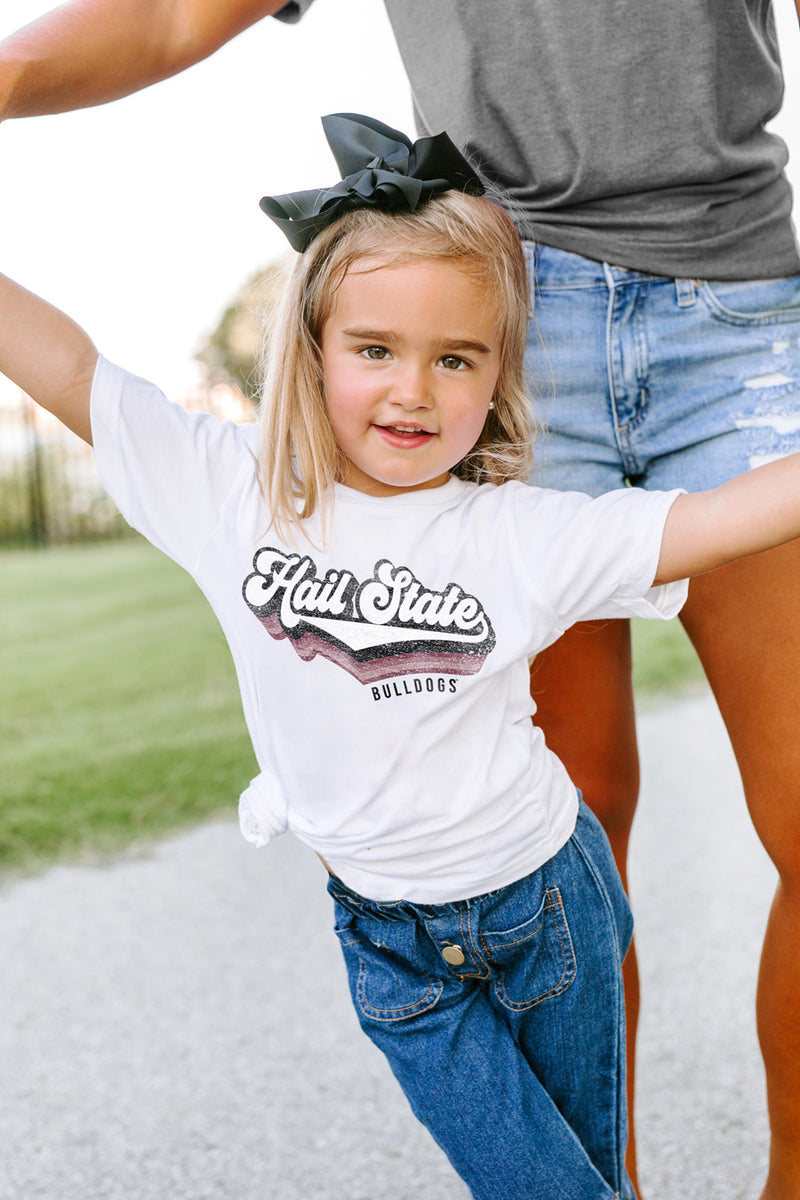 "Mississippi State Bulldogs ""Vivacious Varsity"" Toddler Tee - Gameday Couture"