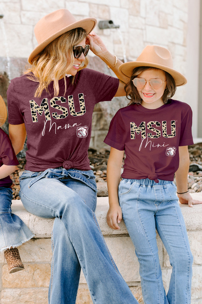 "Mississippi State Bulldogs ""Untamed Mama"" Boyfriend Top - Gameday Couture"