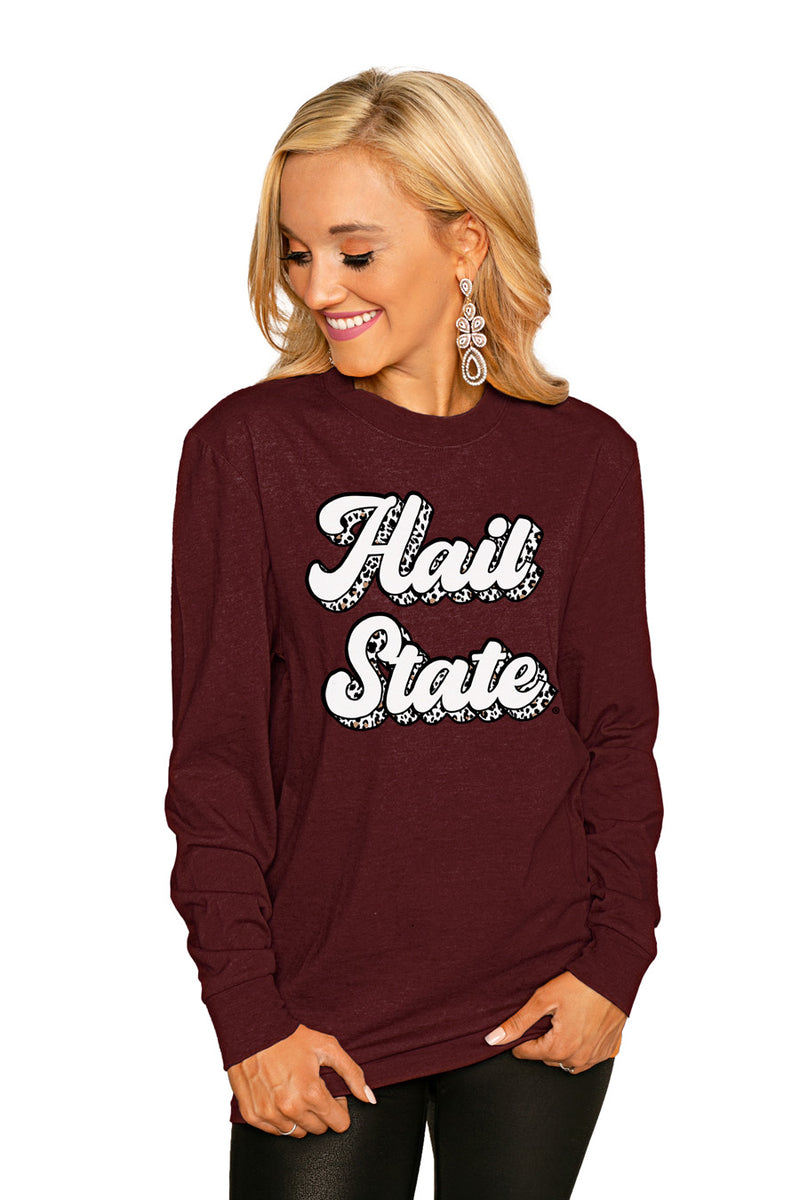 "MISSISSIPPI STATE BULLDOGS ""GAME PLAN"" Luxe Boyfriend Crew - Gameday Couture"