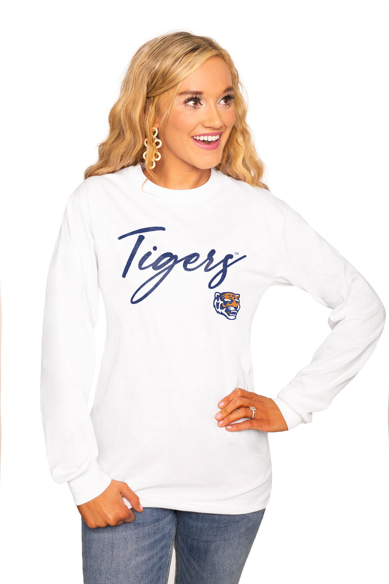 "Memphis Tigers ""Win The Day"" Luxe Boyfriend Crew Tee - Shop The Soho"